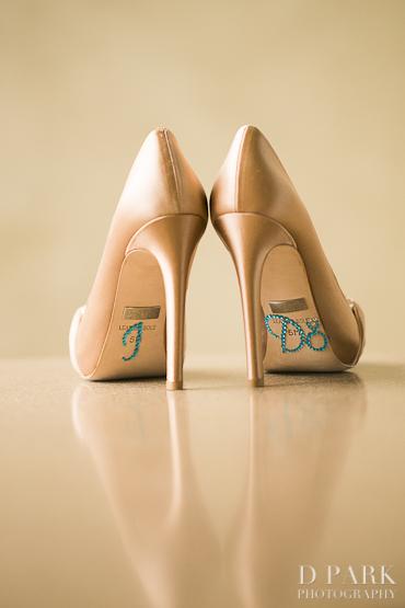 1 I Do Decorated Rhinestone Wedding Shoes Bejeweled Stickers