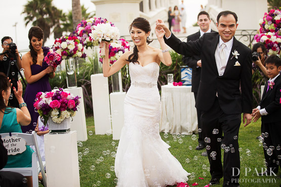 26 Bubbles Ceremony Exit Wedding Venue Photographer Vietnamese Travel Inspired Purple