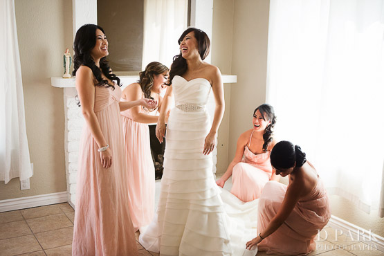 6 Pink Bridesmaids Dresses Theme Vietnamese Wedding