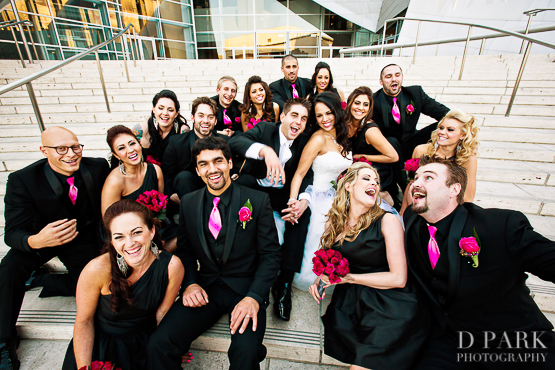 11 Hot Pink Black Bridal Party Wedding Details