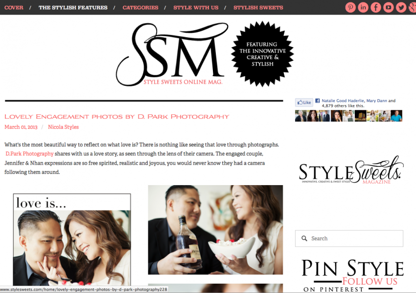 Love Is… Inspired Engagement Published on Style Sweets Magazine