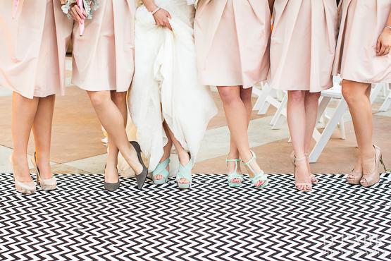 13b San Gabriel Country Club Pink Blush Grey Chevron Wedding Bridesmaids Shoes Spring Bridal