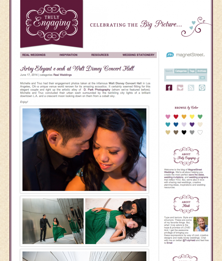Walt Disney Concert Hall Engagement Published by Truly Engaging