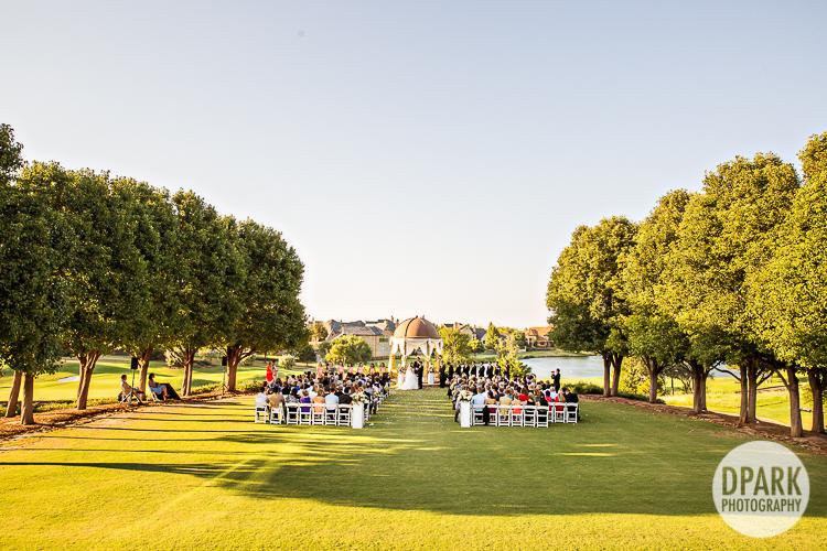 outdoor oklahoma wedding ceremony venue