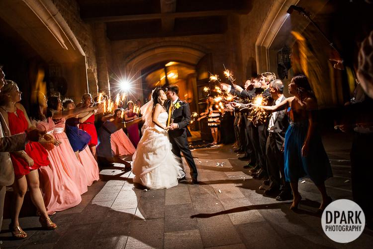 wedding grand exit ideas sparkler