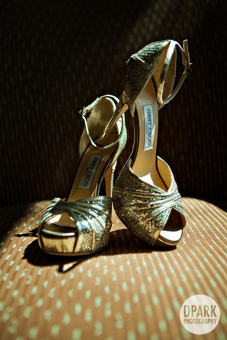 jimmy choo gold bridal wedding heels