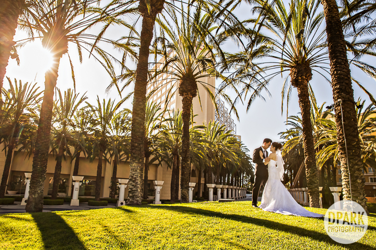 Yellow Blue Elegant Ballroom Oc Wedding Pictures
