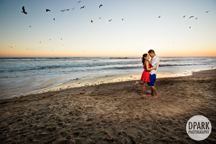 best orange county beach engagement