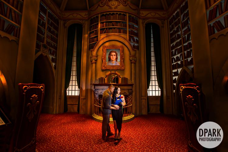 Beauty and the Beast Inspired Disneyland Engagement | Francesca + Kaspar
