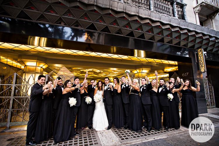 jenny yoo black bridesmaid gown