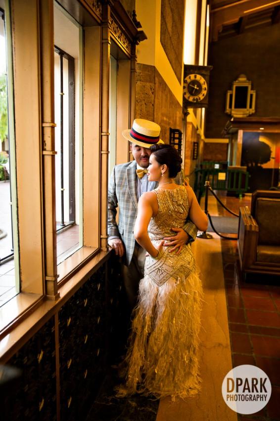 1920s Great Gatsby Los Angeles Engagement Bess Brandon