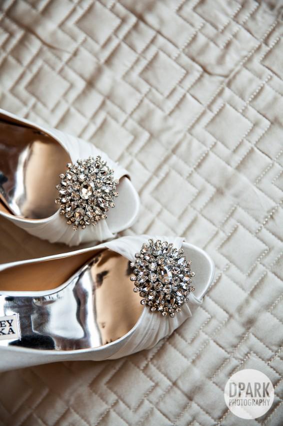 badgley mischka bridal white heels shoes