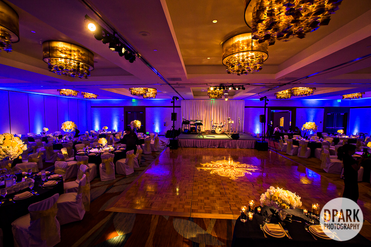 Blue Yellow Wedding Reception Decor