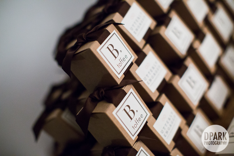 wedding toffee boxed candy favors