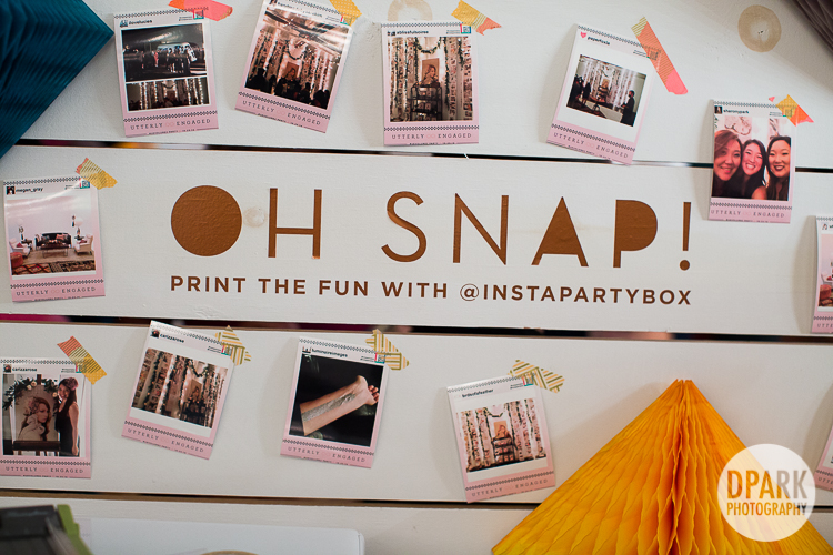 oh snap instagram party wedding booth ideas