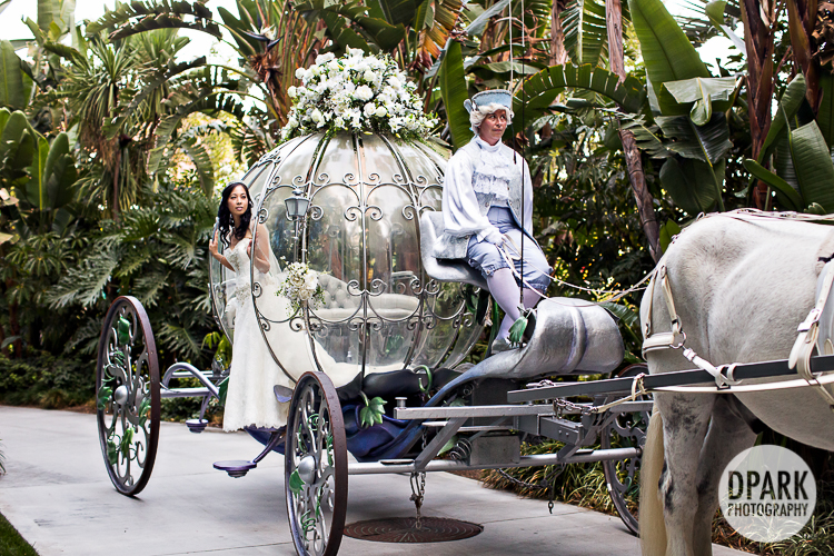 Disney Hotel Cinderellas Crystal Coach Carriage Bride