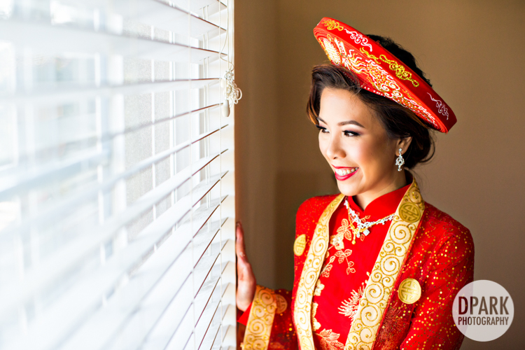 red ao dai wedding ideas