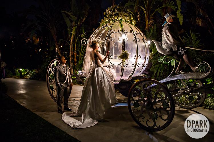 Modern Cinderella Disneyland Wedding Celebrity