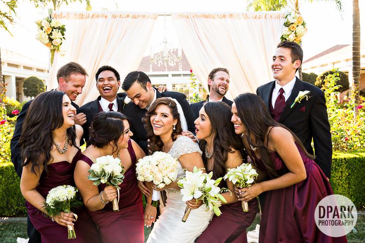 magenta burgundy hispanic wedding