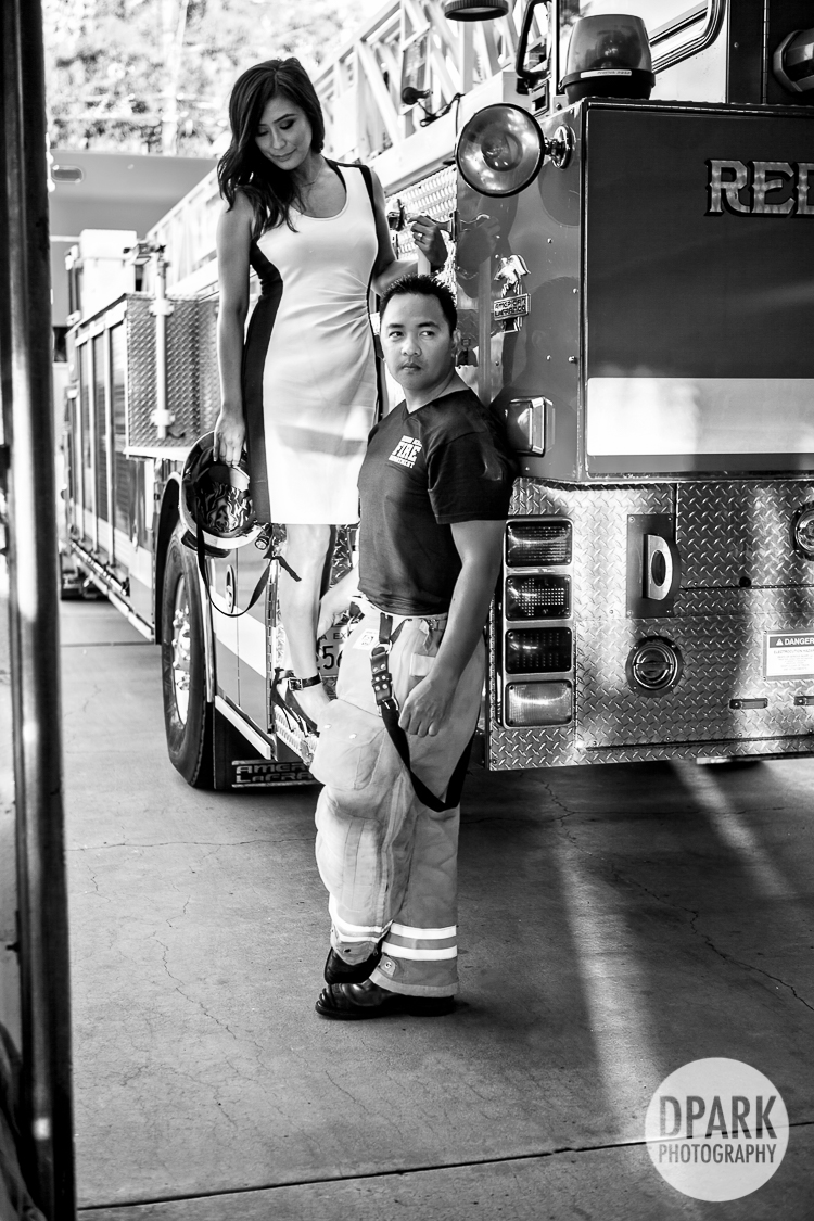 romantic firehouse fire inspired esession