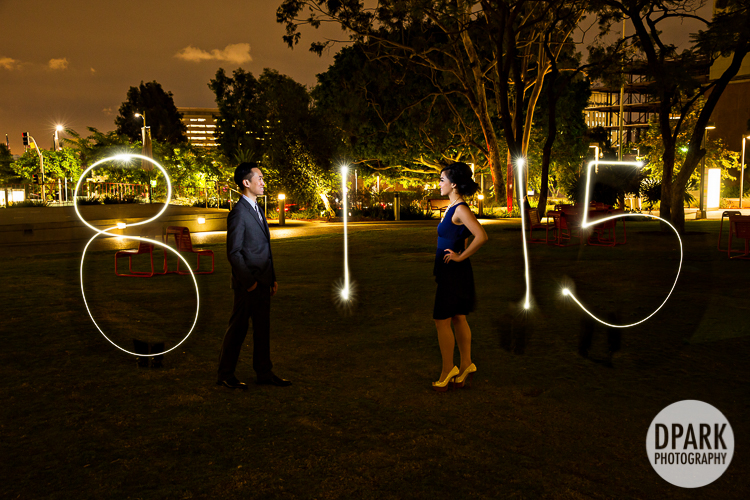 save the date led sparkler lights photo idea