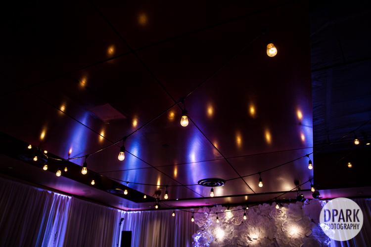 reception ceremony lighting