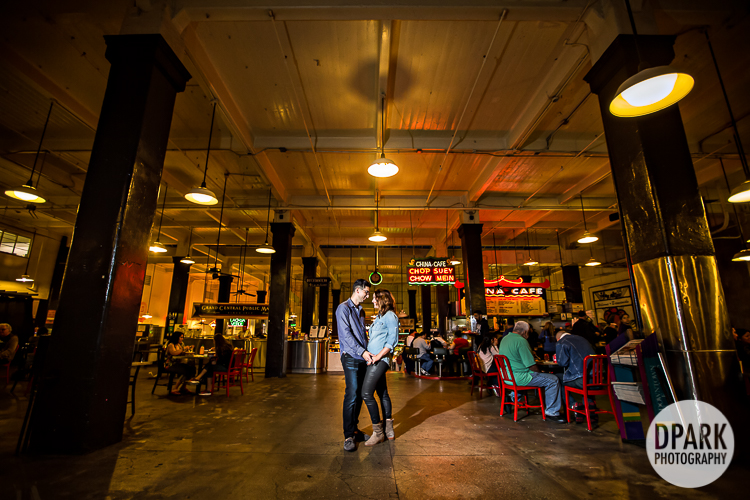 grand central market engagement pictures