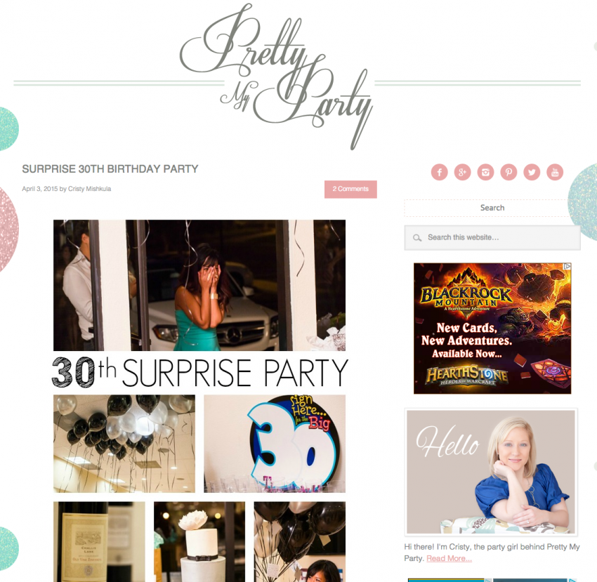 30th birthday girl party ideas for wife