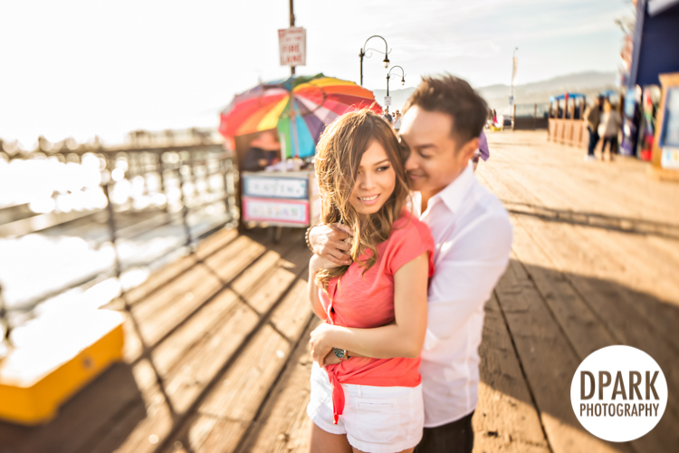 Sneak Peek | Santa Monica Pier Engagement | Tina + Paul