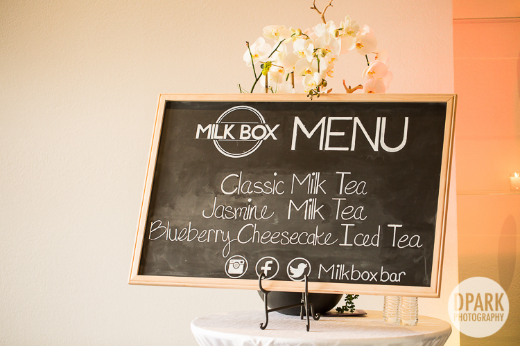 boba bar wedding