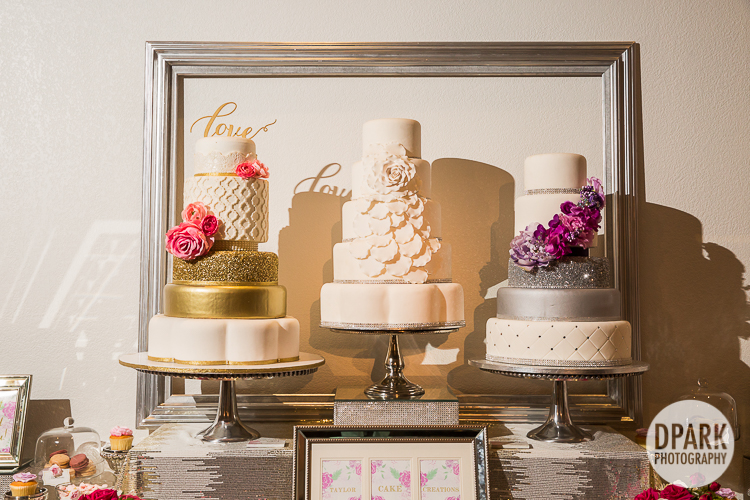 modern chic wedding dessert bar