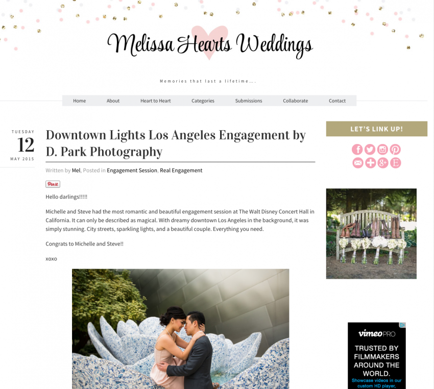Published on Melissa Hearts Weddings