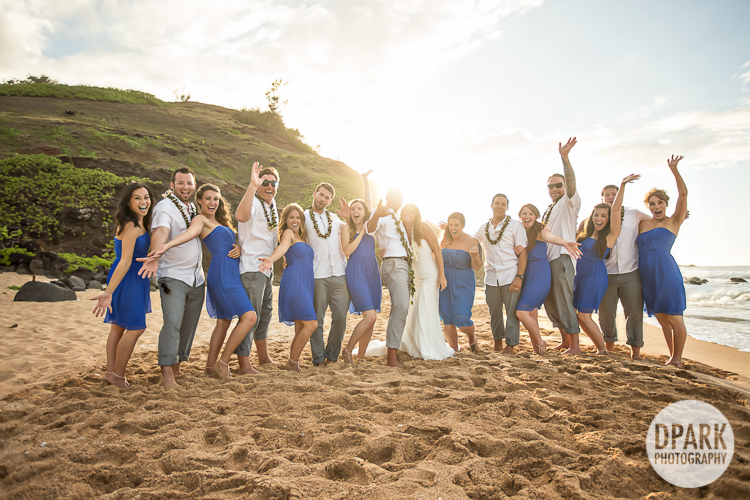 hawaiian-blue-yellow-bridal-party-color-theme-photographer