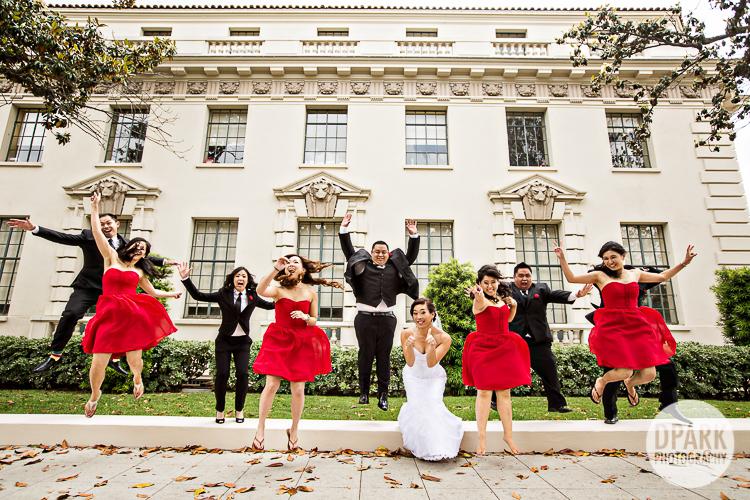 pasadena-city-hall-wedding-bridal-party-red
