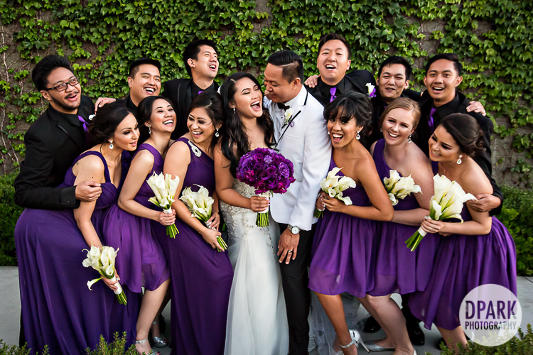 chaffey-college-wedding-purple-bridal-party