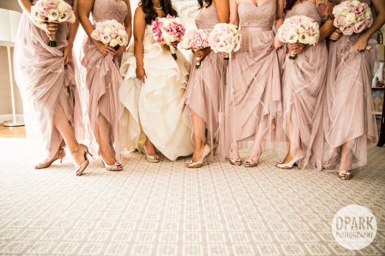 Blush Ivory Gold Bridal Bridesmaids Shoes
