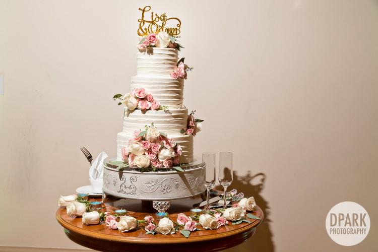 ivory-blush-pink-champagne-rustic-vintage-cake