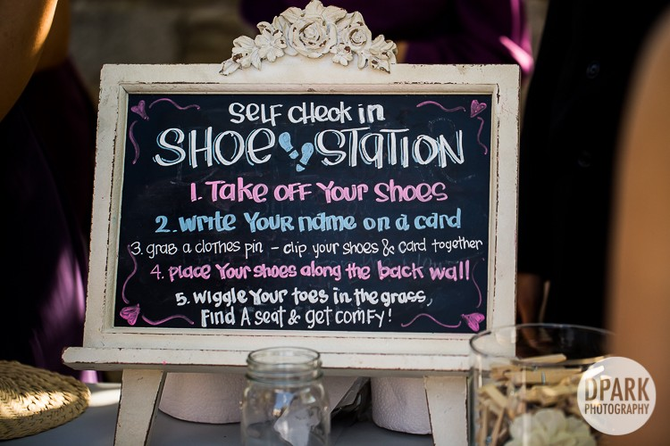 unplugged-barefoot-wedding-ceremony-shoe-station