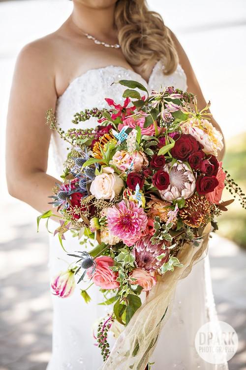 modern-carnival-inspired-wedding-bouquet-flowers