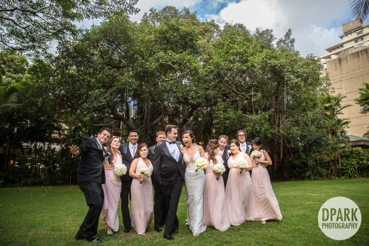 royal-hawaiian-wedding-pink-bridal-party-photos