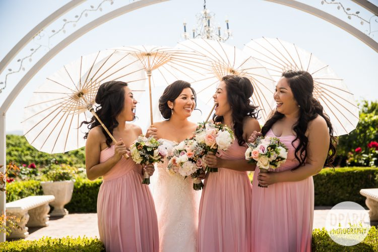 villa-de-amore-temecula-wedding-bridesmaids-pink-parasol-photos