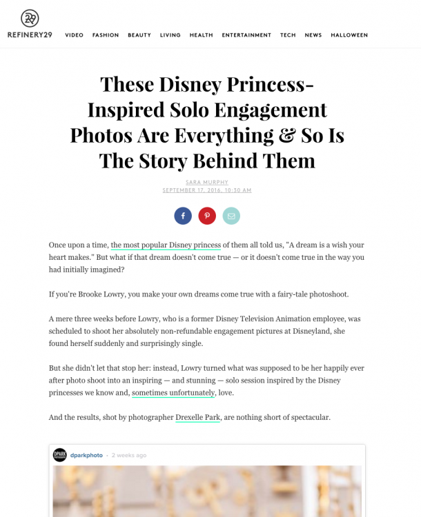 Inspiring Princess Portraits Published on Refinery29