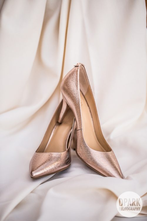 Michael Kors Gold Bridal Heels Shoes