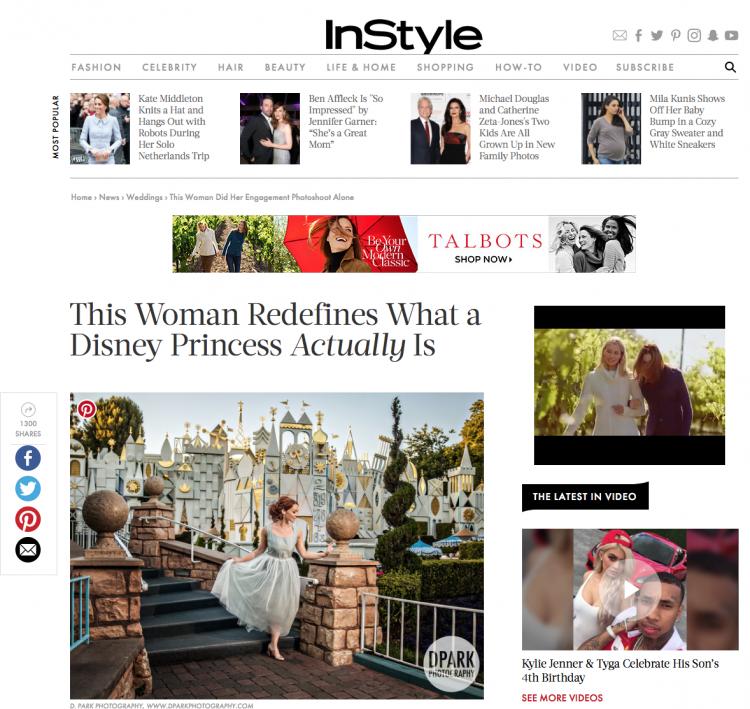 Published on InStyle Wedding Magazine