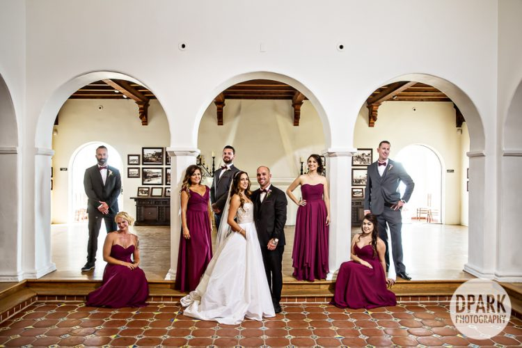burgundy-maroon-bridal-party