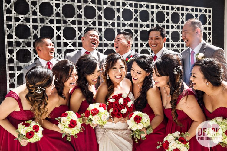 red-modern-bridal-party