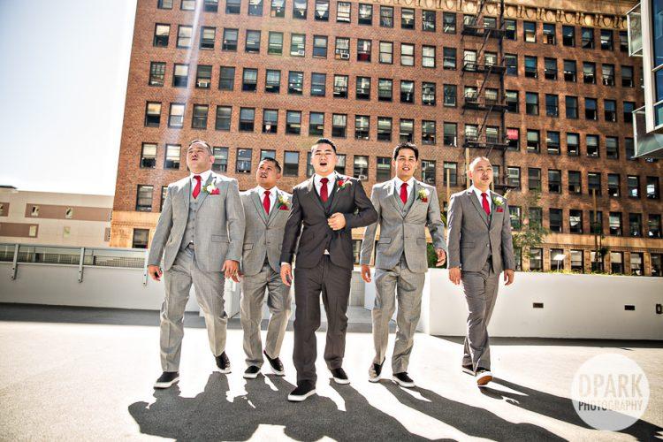 red-groomsmen-grey-suit-tux-tie