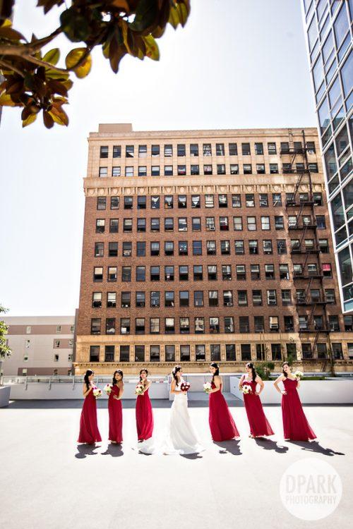 red-bridesmaids-la-rooftop