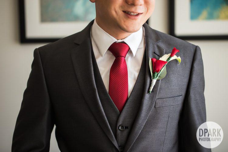 red-groom-necktie
