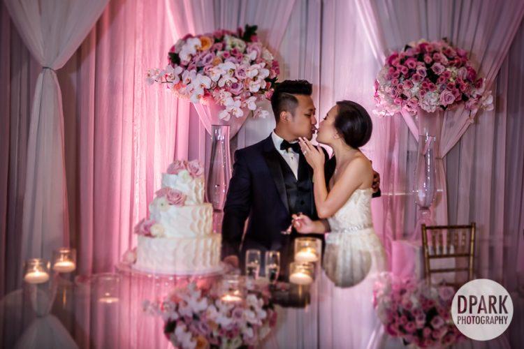 pink-wedding-reception-cake